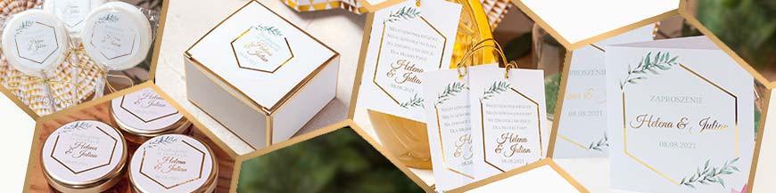 Geometryczna Gold na ślub